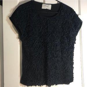Zara | Black Ruffled Top